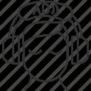 blindness, disability, audio description, audio description icon icon