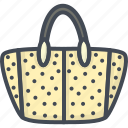 accessories, bag, clothes, hand icon