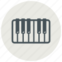 audio, instrument, keys, music, musical, piano, sound icon