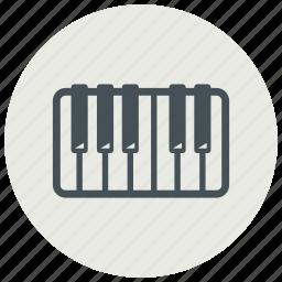 audio, instrument, keys, music, musical, piano, sound icon