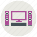 screen, speakers icon