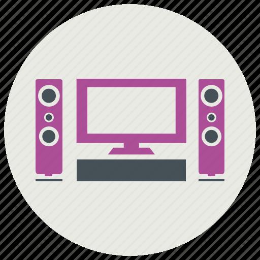 screen, speakers icon