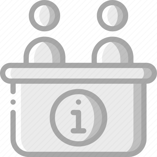accommodation, desk, hotel, information, service, service icon, services icon