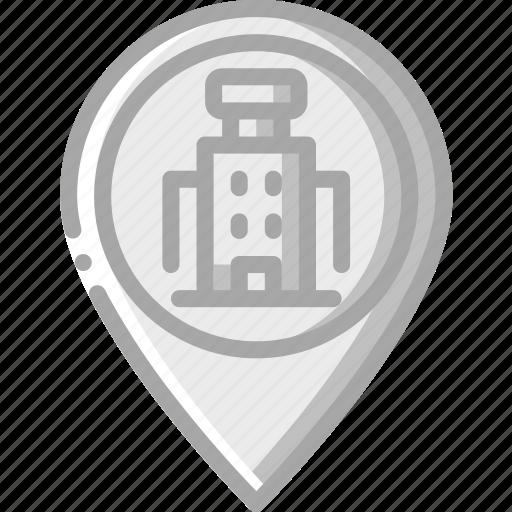 Pin, service, hotel, service icon, services, accommodation icon