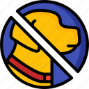 accommodation, dogs, hotel, no, service, service icon, services icon