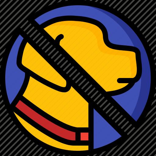 accommodation, dogs, hotel, no, service, service icon, services icon