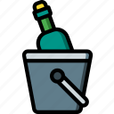 accommodation, bucket, hotel, service, service icon, services, wine icon