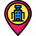 pin, service, hotel, service icon, services, accommodation