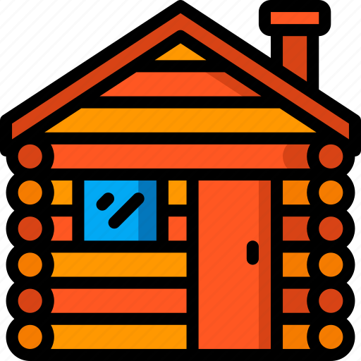 accommodation, cabin, hotel, log, service, service icon, services icon