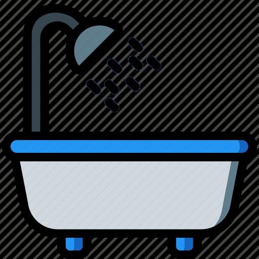 accommodation, bath, hotel, service, service icon, services icon