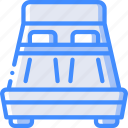 accommodation, bed, double, hotel, service, service icon, services icon