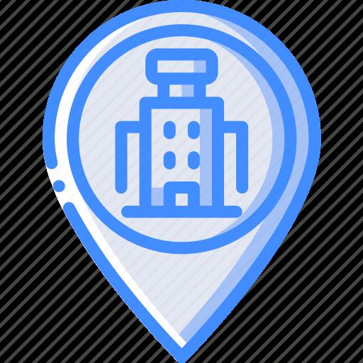 accommodation, hotel, pin, service, service icon, services icon