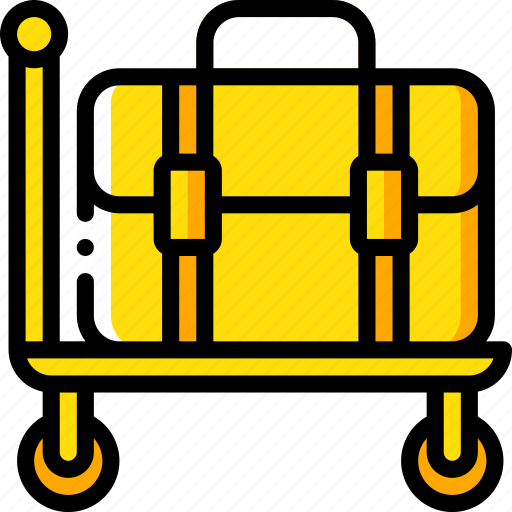 accommodation, hotel, luggage, service, service icon, services, trolley icon