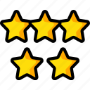 accommodation, five, hotel, service, service icon, services, stars icon