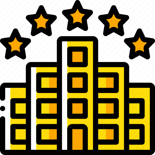 accommodation, five, hotel, service icon, services, star icon