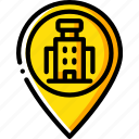 accommodation, hotel, pin, service, service icon, services icon