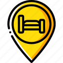 accommodation, bb, hotel, pin, service, service icon, services icon