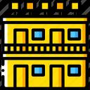 accommodation, hotel, motel, service, service icon, services