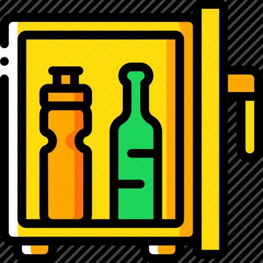 accommodation, fridge, hotel, mini, service, service icon, services icon