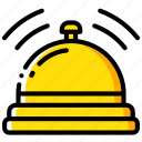 accommodation, bell, hotel, service, service icon, services