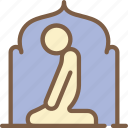 accommodation, hotel, prayer, room, service, service icon, services icon