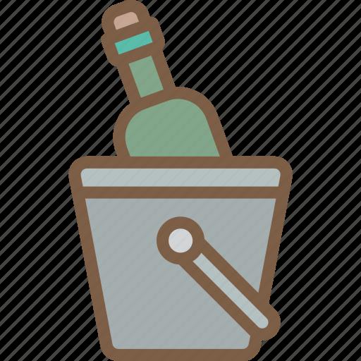 accommodation, bucket, hotel, service, service icon, services, wine icon