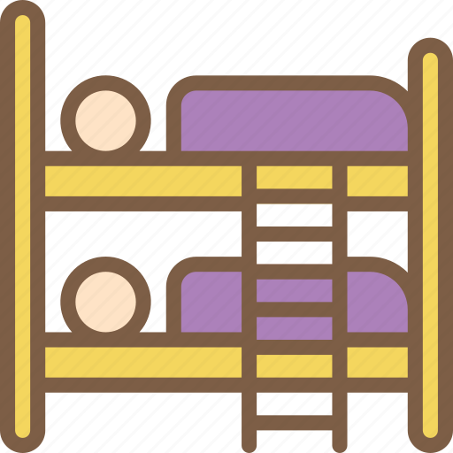 accommodation, bed, bunk, hotel, service, service icon, services icon