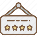 star, hotel, sign, service icon, five, services, accommodation