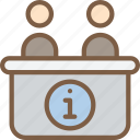 accommodation, desk, hotel, information, service, service icon, services icon