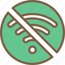 accommodation, hotel, no, service, service icon, services, wifi icon