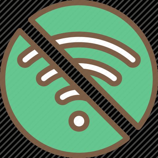 accommodation, hotel, no, service, service icon, services, wifi icon