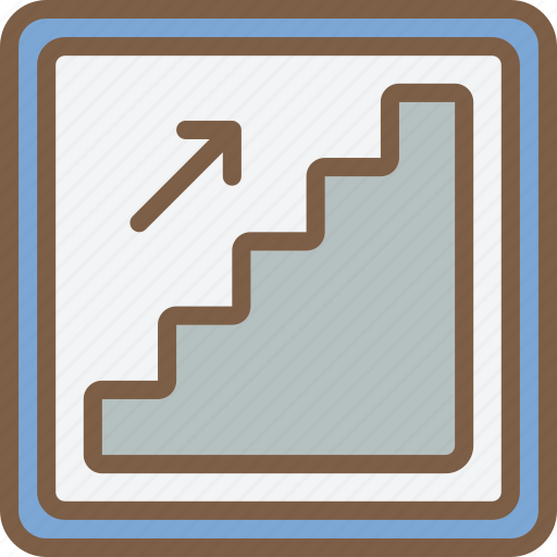 accommodation, hotel, service, service icon, services, stairs icon
