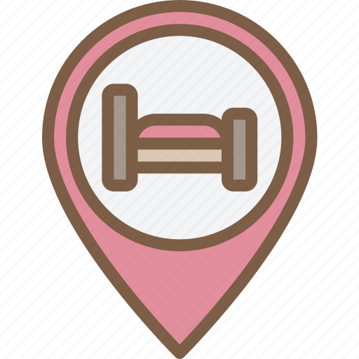 accommodation, bb, hotel, pin, service, service icon, services icon
