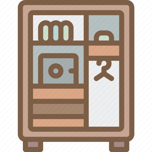 accommodation, hotel, service, service icon, services, wardrobe icon