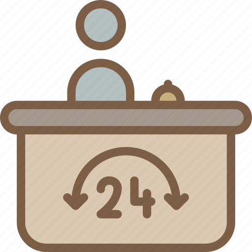 accommodation, desk, help, hotel, service, service icon, services icon