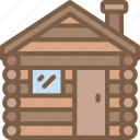 accommodation, cabin, hotel, log, service, service icon, services icon