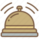 accommodation, bell, hotel, service, service icon, services icon