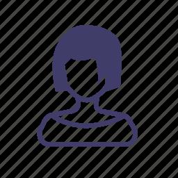 avatar, friend, girl, login, personal, private, user icon