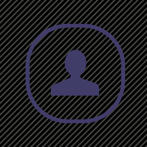 account, avatar, friend, login, personal, private, user icon