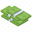 cash, currency, dollar note, dollar stack, finance, money
