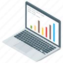 business monitoring, data analytics, infographic, online analytics, statistics icon