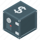 bank locker, closet, digital safe locker, locker, safety locker icon