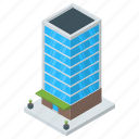 architecture, bank building, commercial building, office building, skyscraper icon