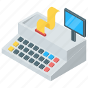 cash dispenser, cash machine, cash receiving machine, cash withdrawal machine, pos icon