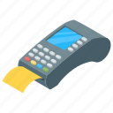 ecommerce, pos, cash register, point of service, cash till, swipe terminal icon