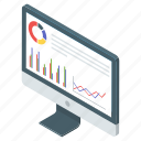 analytics, business evaluation presentation, business graph, graphical illustration, statistical analysis icon