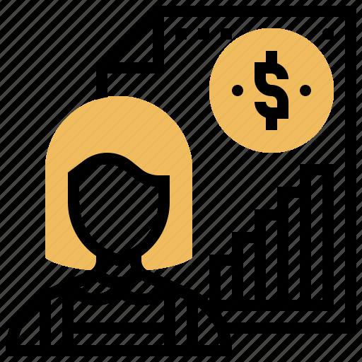 financial, individual, investment, profit, saving icon