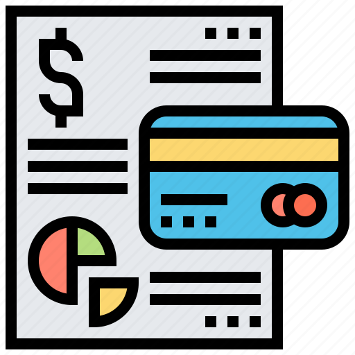 credit, entry, financial, statement, summary icon