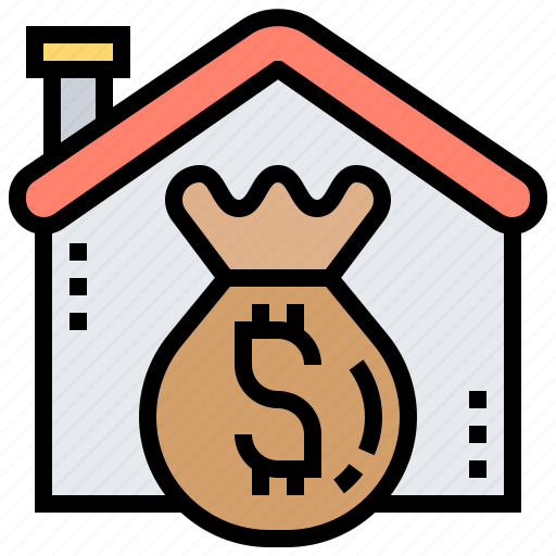 financial, home, loans, mortgages, property icon
