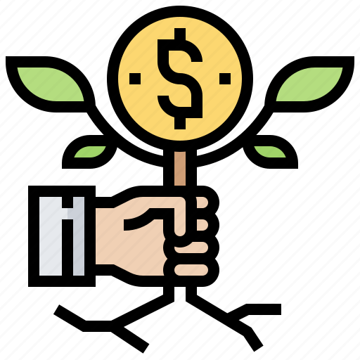 income, interest, investment, profit, return icon